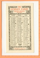 Calendrier 1913 - Gustave FABRE à Nîmes - Tamaño Pequeño : 1901-20