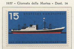 PIA - GERMANIA - 1957  : Giornata Della Marina  -   (Yv 136) - Nuovi
