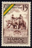 Maroc N° 319 X   Centenaire De La Médaille Militaire Française Trace De Charnière Sinon TB - Marocco (1891-1956)