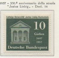 PIA - GERMANIA - 1957  : 350° Anniversario Della Scuola Justus Liebig  -   (Yv 137) - Nuovi