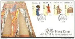 Hong Kong - 1989 Cheung Chau Bun Festival FDC - Hong Kong (...-1997)