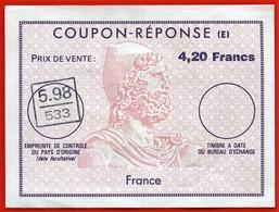 Provenance Ile REUNION - Lot De 3 Coupons Réponse (E) - FRANCE  5.98  / 533  (Im 53-2-3-4) - Stamps