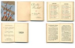 Calendrier 1929 - Chocolat Foucher à Paris (Rue Du Bac) - Klein Formaat: 1921-40