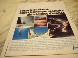 ANCIENNE PUBLICITE ESPRIT DE FLAINE 1975 - Altri