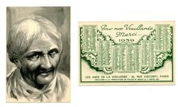 Calendrier 1939 - Merci Pour Nos Vieillards - Klein Formaat: 1921-40