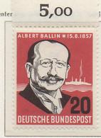 PIA - GERMANIA - 1957  : Centenario Della Nascita Dell' Armatore Albert Ballin  -   (Yv 138) - Nuovi