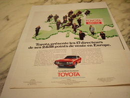 ANCIENNE PUBLICITE  SERVICE  ET TOYOTA 1975 - Cars