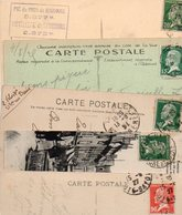 FRANCE..TIMBRE TYPE PASTEUR....LOT DE 100 SUR CPA....VOIR SCAN......LOT 18 - 1922-26 Pasteur