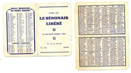 Calendrier 1966 - Le Sénonais Libéré à Sens (Yonne) - Calendriers
