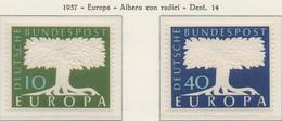 PIA - CEPT - 1957 - ALLEMAGNE  - (Yv 140-41) - Nuovi