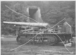 Armée Française  ARTILLERIE CANON  194 GPF  CHENILLES 14-18 Blindage Gros Plan  Grand Format - Krieg, Militär
