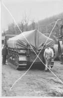 Armée Française  ARTILLERIE CANON  280 Mm   CHENILLES 14-18 Blindage Gros Plan  Grand Format - Krieg, Militär