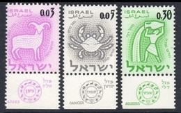 1962Israel249-251Zodiac - Overprints  #224,227,234 - Israel