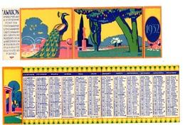 Calendrier 1932 - Imprimeur A. WATON à St Etienne (fin De L'Art Déco) - Kalenders