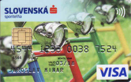 Credit Card Slovakia, Slovenska Sporitelna, Chip + Magnetic VISA, Bike, Fahrrad,  Bicyclette - Cartes De Crédit (expiration Min. 10 Ans)