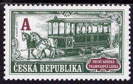 Czech Republic - 2019 - Technical Monuments - First Horse-drawn Tram Line - Mint Stamp - Tchéquie