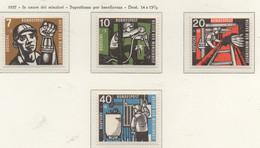 PIA - GERMANIA - 1957 - In Onore Dei Minatori - Sovrattassa Di Beneficenza   - (Yv 142-45) - Nuovi