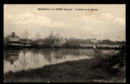 51 -  MARCILLY SUR SEINE (Marne) - Le Pont Et La Mairie - France