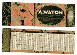 Calendrier 1931 - Imprimeur A. WATON à St Etienne (fin De L'Art Déco) - Klein Formaat: 1921-40