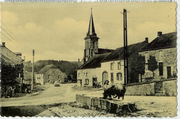 Resteigne - Centre Village Dame Et Vache à L'abreuvoir - Pas Circulé - Editions Arduenna Pour La Maison ZAbus Lambert - Tellin