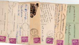 FRANCE..TIMBRE TYPE PAIX...40c...LOT DE 48 SUR CPA....VOIR SCAN......LOT 21 - 1932-39 Paix
