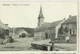 Resteigne - Eglise Et Alentours, Abreuvoir - Circulé - Editions Arduenna Pour Madame Martin - Photo Clém. Dessart 529 - Tellin