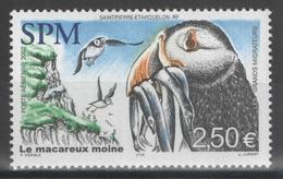 SPM - Saint-Pierre-et-Miquelon - YT PA 82 ** MNH - 2002 - Faune - Oiseau - Macareux - Neufs