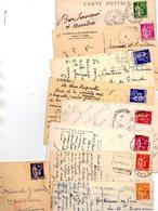 FRANCE..TIMBRE TYPE PAIX......LOT DE 48 SUR CPA....VOIR SCAN......LOT 22 - 1932-39 Paix