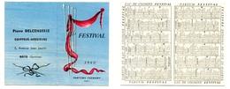 Calendrier 1960 - Parfum FESTIVAL De CHERAMY à Paris (Delcenserie, Coiffeur à ROYE, Somme) - Calendarios