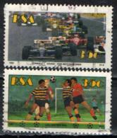 SUD AFRICA - 1992 - SPORTS: FORMULA 1 E CALCIO - USATI - Usati