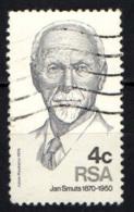 SUD AFRICA - 1975 - NJAN C. SMUTS - AVVOCATO, STATISTA - USATO - Sud Africa (1961-...)