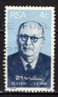SUD AFRICA - 1974 - PRIMO MONISTRO DEL SUD AFRICA: D. F. MALAN - USATO - Sud Africa (1961-...)
