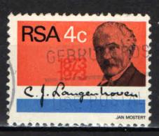 SUD AFRICA - 1973 - CORNELIS JACOB LANGHEHOVEN - STUDIOSO DELLA LINGUA AFRIKAANS - USATO - Sud Africa (1961-...)