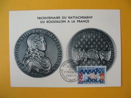 Carte-Maximum 1959  N°  1223 Tricentenaire Du Traité Des Pyrénées - Maximum Cards