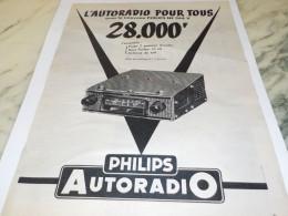 ANCIENNE PUBLICITE AUTORADIO  PHILIPS 1955 - Music & Instruments