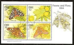 Ierland Irlande Ireland 1994 Yvertnr. Bloc 16 (o) Oblitéré Cote 8,00 Euro Faune Papillons Vlinders - Blocs-feuillets