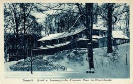 """Detmold, Hotel U. Sommerfrische """"Krummes Haus"""" Im Winterkleide, Ca. 30er Jahre - Detmold"""