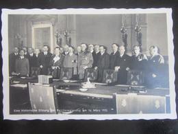 Postkarte Propaganda Kabinett Hitler Göring Goebbels 1935 - Photo Hoffmann - Allemagne