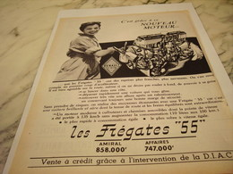 ANCIENNE PUBLICITE VOITURE RENAULT   FREGATE 1955 - Voitures