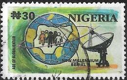 NIGERIA 2002 New Millennium - 30n - Globe And Satellite Dish FU - Nigeria (1961-...)