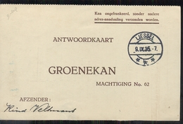 Liessel - Groenekan - 1935 - Marcophilie
