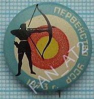 USSR /  Badge / Soviet Union / UKRAINE.  Archery Shooting Championship Lviv 1973. - Boogschieten