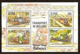 Ierland Irlande Ireland 1995 Yvertnr. Bloc 18 *** MNH Cote 8.00 Euro Chemin De Fer Trains Treinen - Blocs-feuillets
