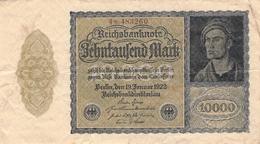 10.000 Mark Reichsbanknote VG/G (IV) - [ 3] 1918-1933: Weimarrepubliek