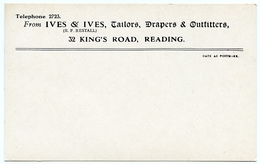 ADVERTISING : IVES & IVES, TAILORS, DRAPERS & OUTFITTERS, READING, KING'S ROAD - Advertising