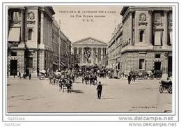 PARIS - Visite De S.M. Alphonse XIII - Rue Royale Décorée C.L.C. - Non Classés