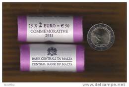 @Y@   Malta 2 Euro 2011  Commemorative - Malte
