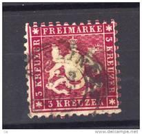 Allemagne  -  Wurtemberg  :  Mi  26 D  (o)    Dentelé 10 ,  Dunkellilarot - Wurttemberg