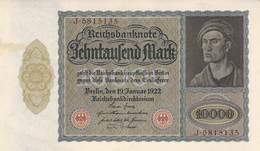 10.000 Mark Reichsbanknote VF/F (III) (Großformat) - [ 3] 1918-1933 : República De Weimar