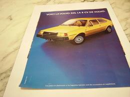 ANCIENNE PUBLICITE LA 343  VOITURE VOLVO  1976 - Voitures